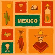 Mexico background, Stock Illustration