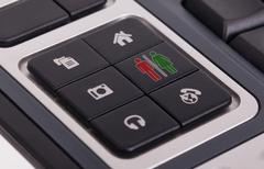 Buttons on a keyboard - Man and woman Stock Illustration