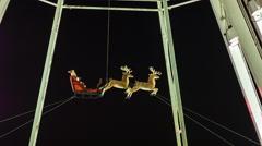 Santa Claus in Winter Wonderland, London Stock Footage