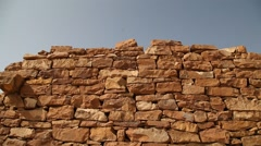 Closeup shot of stone wall Texture Stock Footage