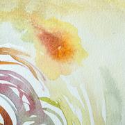 Abstract watercolor art hand paint on paper Stock Photos