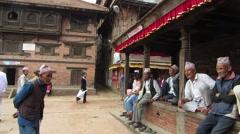 Nepali people lifestyle Stock Footage