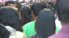 Crowd of Asian people Stock Footage