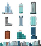 Stock Illustration of Skyscraper Offices Set
