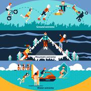 Extreme Sports Banners - stock illustration