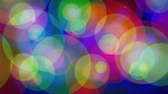 Multicolored glowing circles abstract motion background Stock Footage