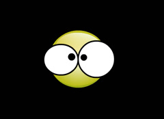 Yellow Smiley with Big Eyes blinking animation illustration Stock Footage