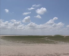 Coastal salt marshes, dune formation and erosion in Mont-Saint-Michel bay Stock Footage