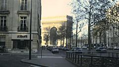 Paris 1978: Arc de Triomphe Stock Footage