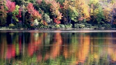 Video of Norton Pond in Lincolnville, Maine Stock Footage