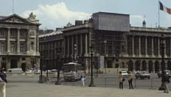 Paris 1978: Place de la Concorde Stock Footage