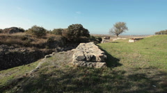 Walls of Troy - ancient city - Anatolya, Turkey - stock footage