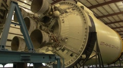 Saturn V engine at Johnson Space Center, Houston Stock Footage