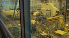 Spacecraft crew cabin and modules at Johnson Space Center, Houston Stock Footage