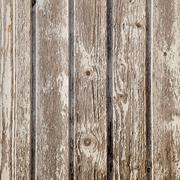 old planks with peeling white paint on square image - stock photo