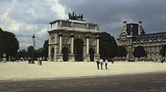 Paris 1978:  arc des tuileries Stock Footage