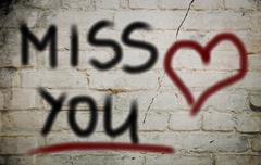 Miss You Concept Stock Illustration