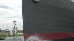 Titanic port side in Branson, Missouri Stock Footage