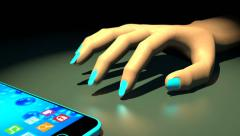 Waiting for a phone call, 3D animation Stock Footage