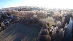Frozen aerial landscape Stock Footage