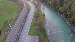 River in the Salzburg alps Stock Footage