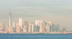 Manhattan Skyline Sunset (4K RAW) Stock Footage