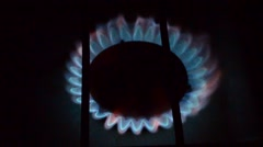 Gas burns Stock Footage