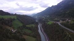 Salzburg aerial view Stock Footage