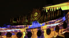 "Festival ""Circle Of Light"" - VDNKh,  Central Pavilion Stock Footage"