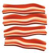 Pieces of fried bacon vector illustration Stock Illustration