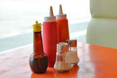 Seasoning on the table - stock photo