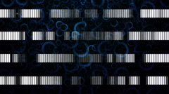 Fantastic animation with stripe object and lights in motion, loop HD 1080p Stock Footage