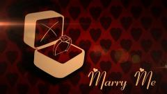 Marry Me Romantic Love Animation Stock Footage