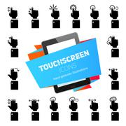 Stock Illustration of Touch Gestures Icons Black
