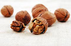 wallnuts close-up - stock photo