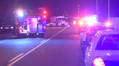 Emergency Vehicles - stock footage
