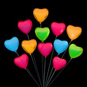 Valentine's card with heart shape balloons. Place for text Stock Illustration