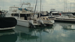Yachts Moored in a Marina in Perth Stock Footage