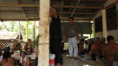 Village Chief Talks the Village on the Micronesian island of Pohnpei Stock Footage