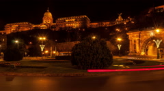 Buda Castle and Clark Adam Square Stock Footage