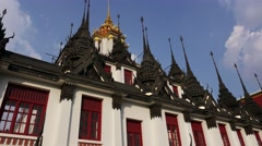 Timelapse  4K Wat Ratchanatdaram Religion Hdv Bangkok Bu Stock Footage