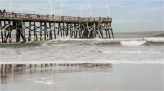 Florida_DaytonaBeach_Fisherman_17svv Stock Footage
