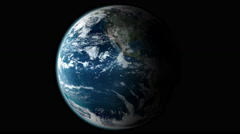 Earth Spinning Slowly Seamless Loop Turning Globe Rotating Slowly 360 4K Stock Footage