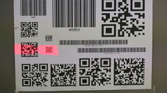 Barcode scanner testing Stock Footage
