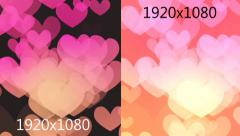 Hearts Bokeh Stock After Effects