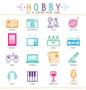 hobby elements - stock illustration