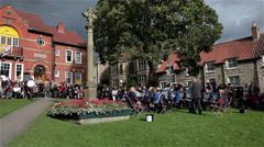 STAPE SILVER BAND PLAY ON GREEN, PICKERING, NORTH YORKSHIRE Stock Footage