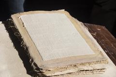 Cotton paper handmade - stock photo