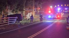 Car wreck Stock Footage