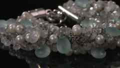 Stones Bracelet 1 - stock footage